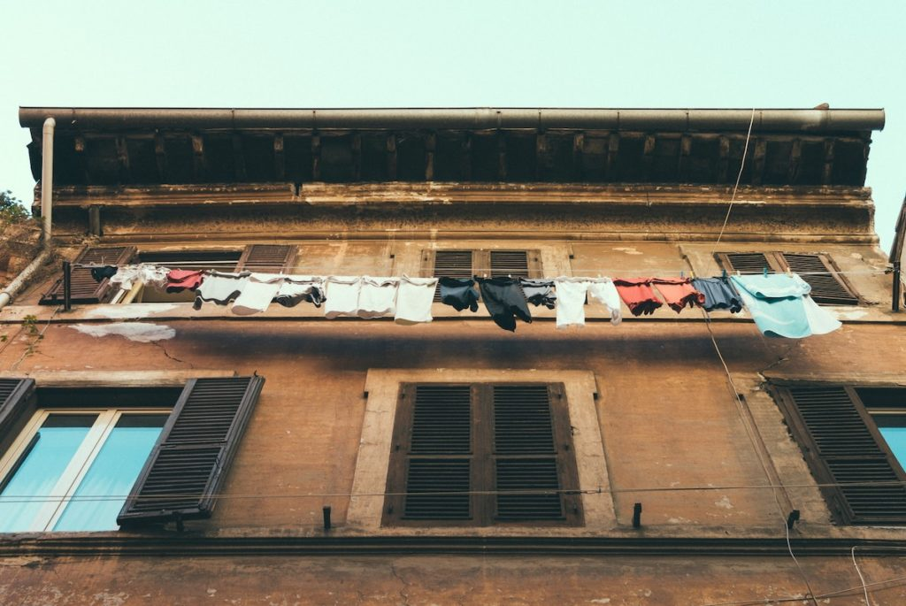 Eco-friendly travel donate clothes to people in need