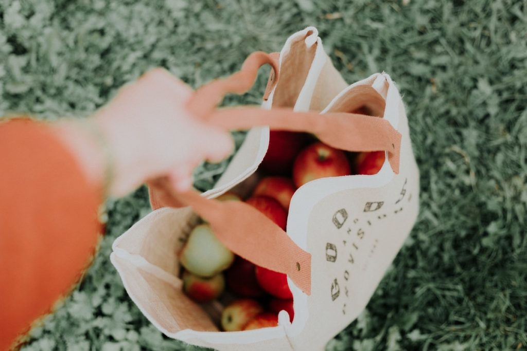Eco-friendly travel reusable grocery bags